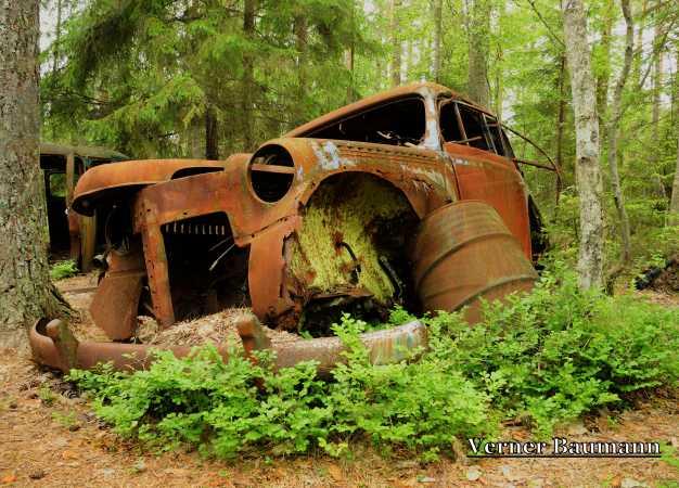 En rusten bil