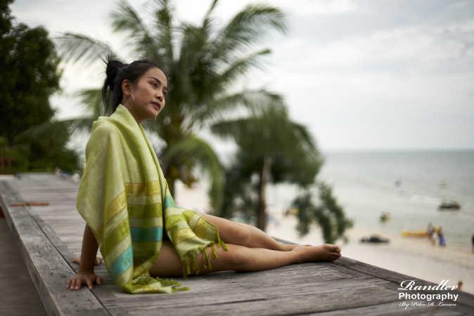 Nittaya at the beach