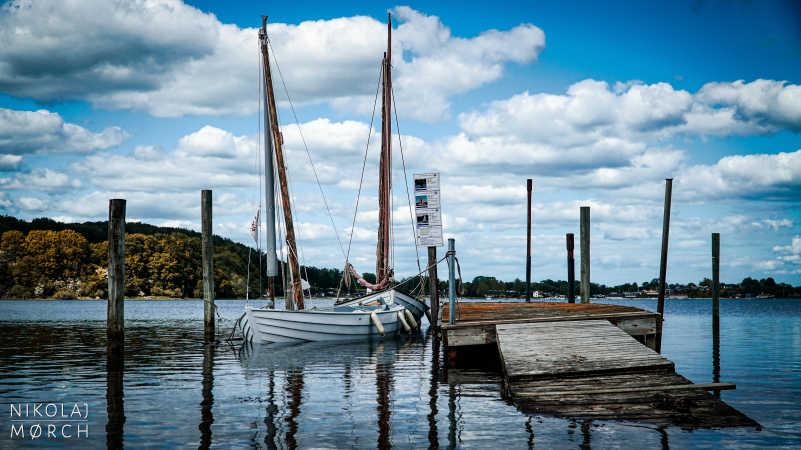 Båd på Kalvø