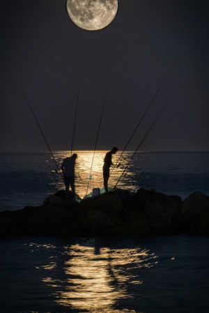 Nat fiskeri.