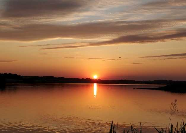 Solnedgang ved Slivsø