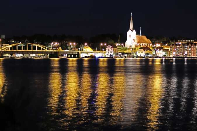 Sønderborg by night