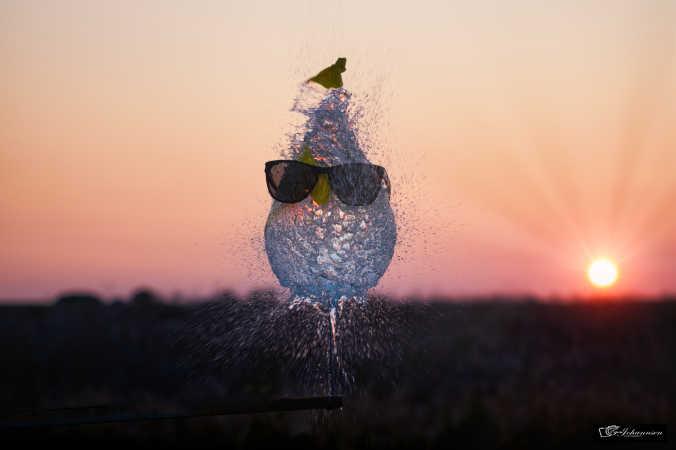 Leg med vandballon.
